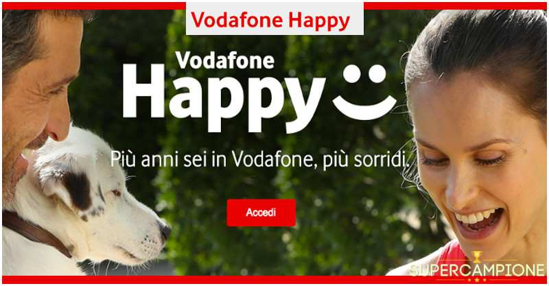 Supercampione - Vodafone ti regala 8 Giga per il weekend