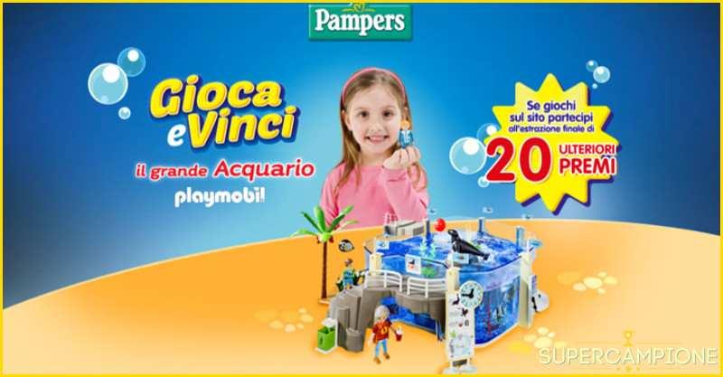 Vinci un acquario Playmobil con Pampers