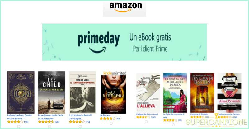 Supercampione - Ricevi gratis un eBook con Amazon Prime