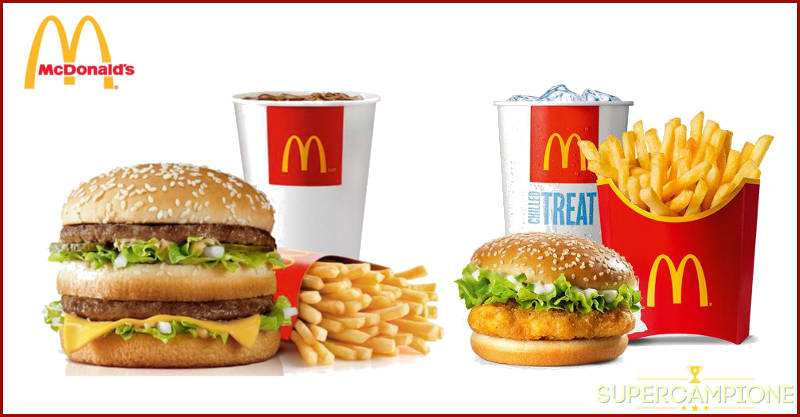 Supercampione - McDonald's: Big Mac o McChicken Menù a 4,50€