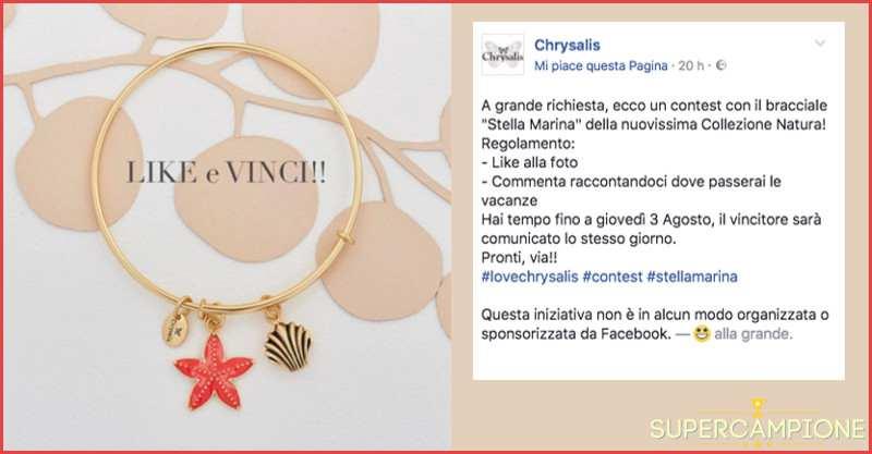 Supercampione - Vinci gratis un bracciale Chrysalis