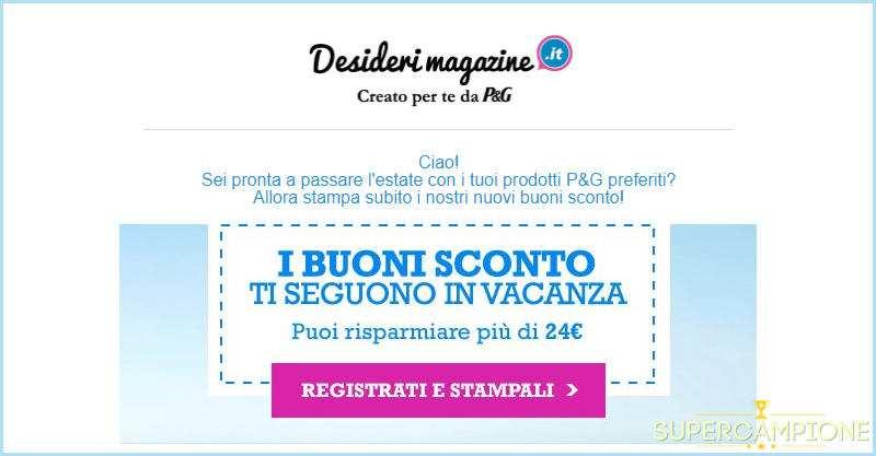 Supercampione - Buoni sconto su Desideri Magazine