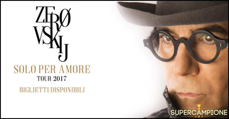 Supercampione - RTL: vinci gratis biglietti per il concerto di Renato Zero