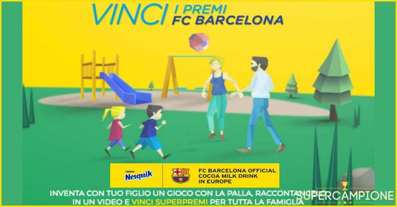 Supercampione - Vinci subito uno dei 20 palloni FC Barcellona con Nesquik