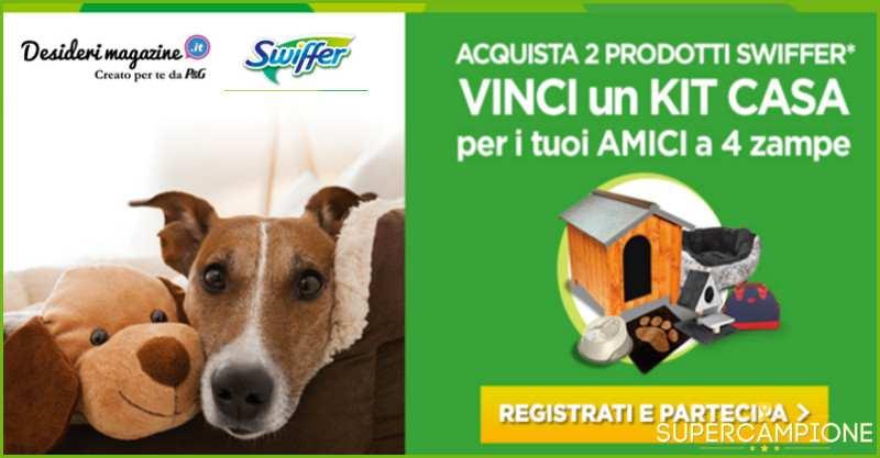 Supercampione - Vinci kit casa per il tuo animale domestico