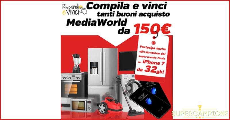 Supercampione - Vinci gratis buoni Mediaworld da 150€