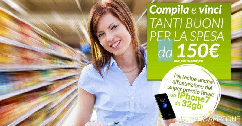 Supercampione - Vinci gratis buoni Coop da 150€