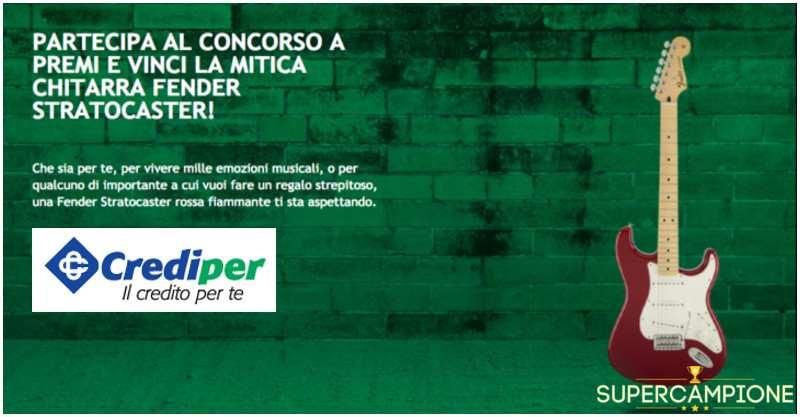 Supercampione - Vinci una chitarra elettrica Fender Stratocaster Candy Apple