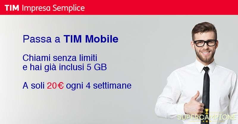 Supercampione - Offerta TIM Europa 5 GB
