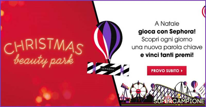 Supercampione - Sephora: vinci gratis gift card e make up total look