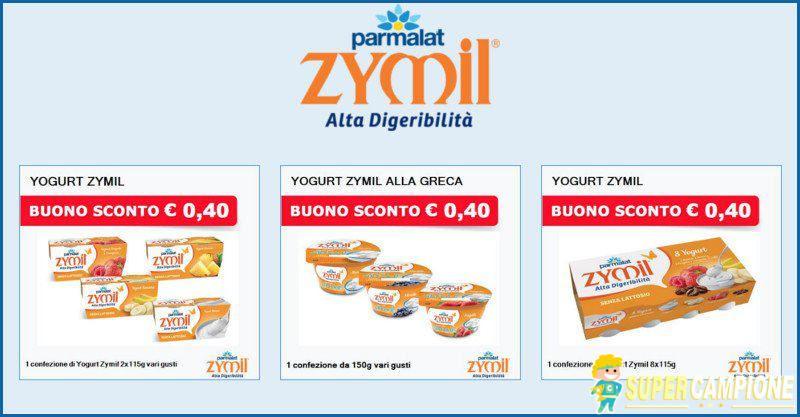 Buoni spesa yogurt Zymil Parmalat