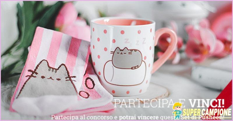 Supercampione - Vinci gratis un set tazza e calzini di Pusheen