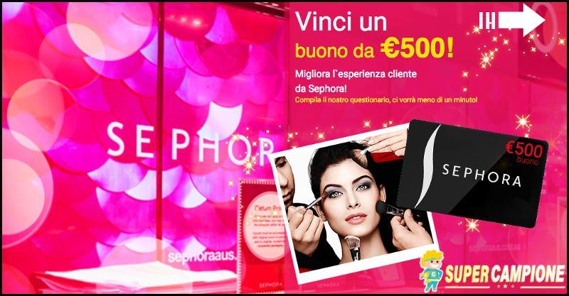 Supercampione - Vinci gratis un buono Sephora da 500€