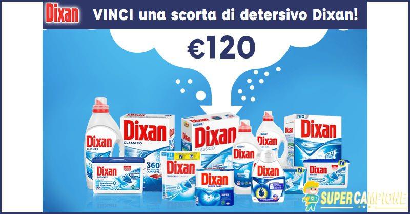 Supercampione - Vinci gratis una scorta di detersivo Dixan