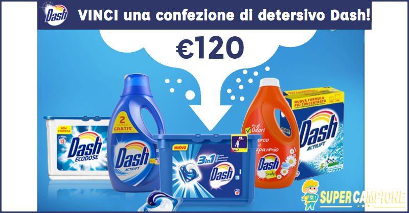 Supercampione - Vinci gratis una confezione di detersivo Dash