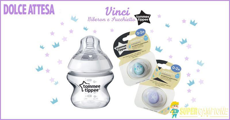 Supercampione - Vinci gratis biberon e succhietto neonato Tommee Tippee