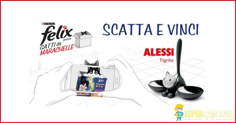 Purina Felix: vinci gratis una ciotola Tigrito Alessi