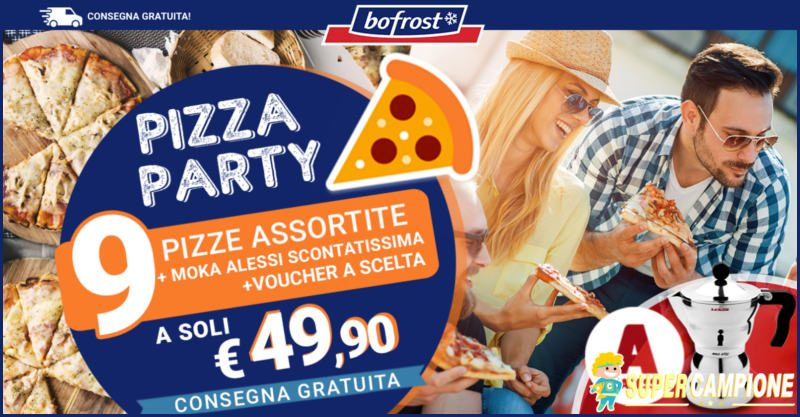 Supercampione - Bofrost: offerta pizze + Moka + buono regalo