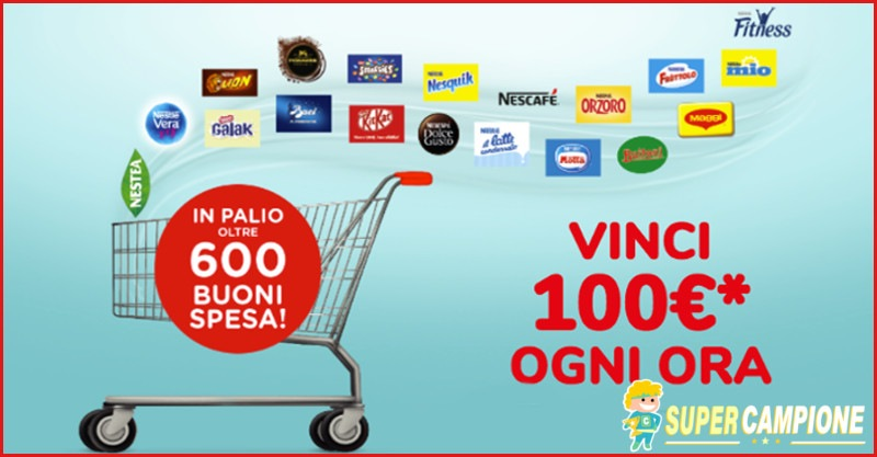 Supercampione - Nestlé: vinci 100€ di buoni spesa