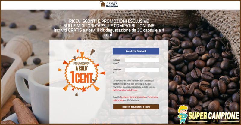 Supercampione - Caffè Italiano: ricevi 30 capsule a 1 centesimo