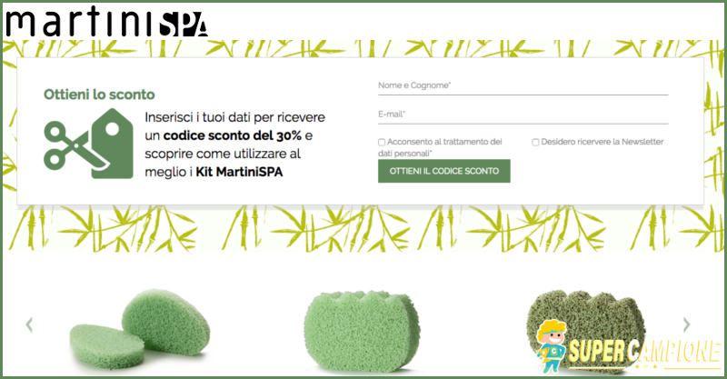 Supercampione - Codice sconto del 30% su Martini Spa