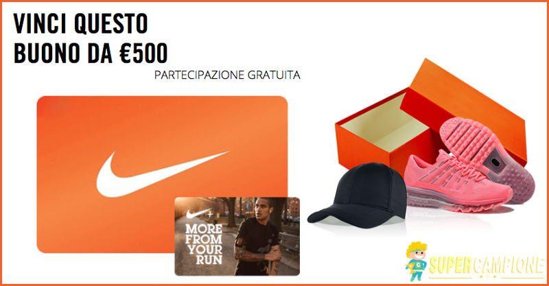 Supercampione - Vinci un buono Nike da 500€