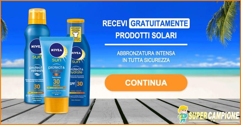 Supercampione - Vinci gratis prodotti solari Nivea