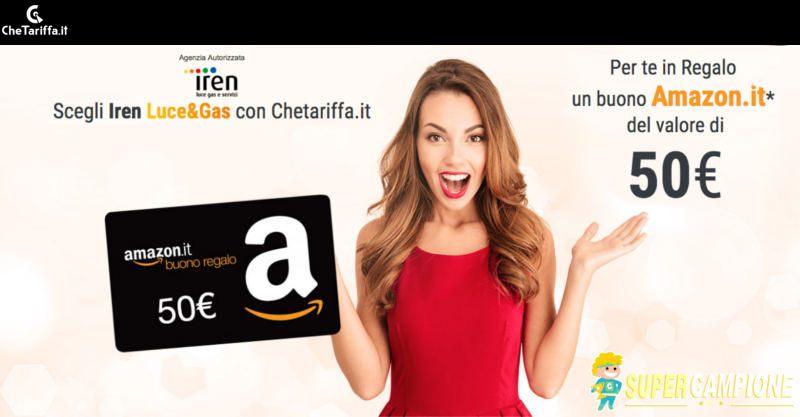 Supercampione - Scegli Iren e ricevi un buono Amazon da 50€