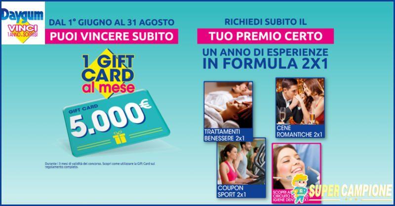 Supercampione - Premio sicuro e card da 5000€ in palio con Daygum