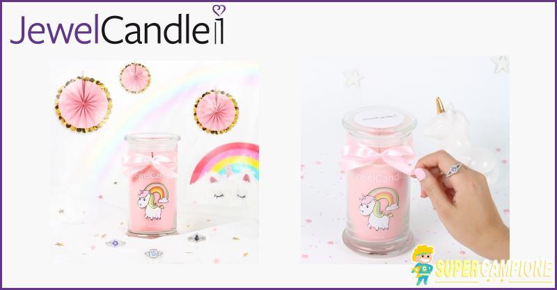 Vinci gratis candela JewelCandle Unicorn