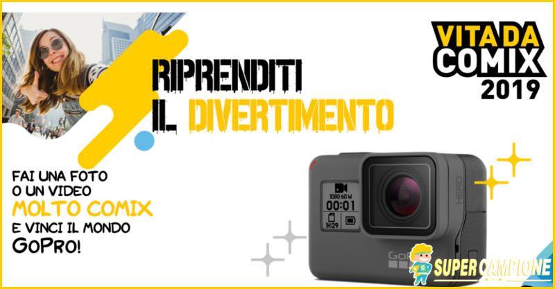 Supercampione - Vinci gratis GoPro Hero con Comix