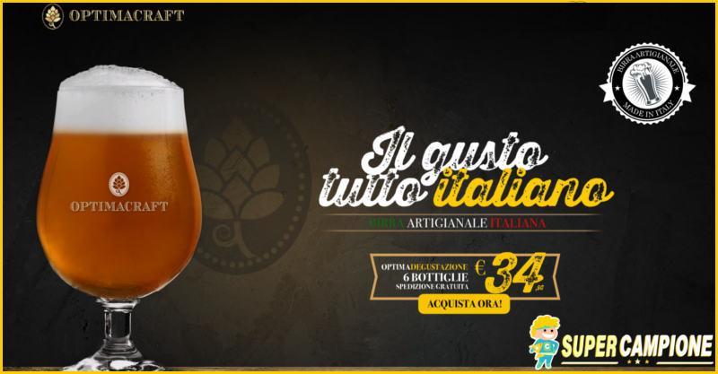 Supercampione - Offerta benvenuto OptimaCraft birra artigianale