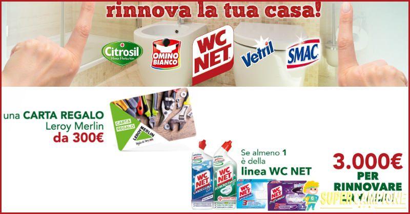 Supercampione - Vinci buoni Leroy Merlin e 3000€ per rinnovare casa