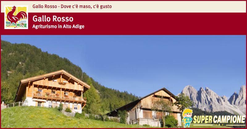 Supercampione - Vinci gratis viaggio in un maso Gallo Rosso in Alto Adige