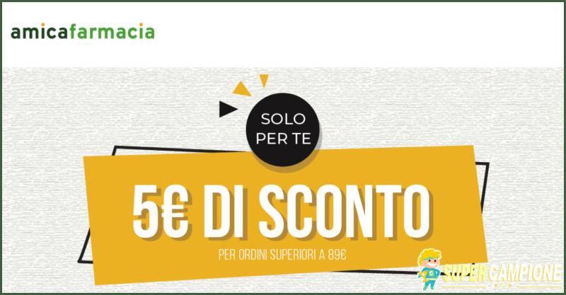 Supercampione - Codice sconto 5€ da Amica Farmacia