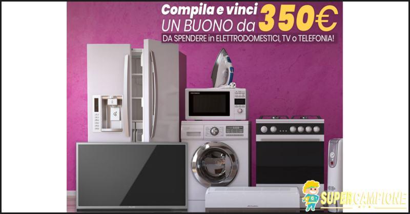 Vinci gratis buoni elettronica da 350€