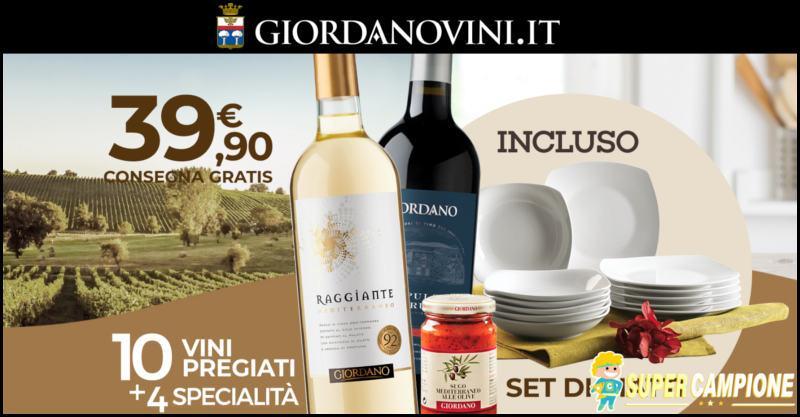 Giordano Vini: consegna gratis e omaggio