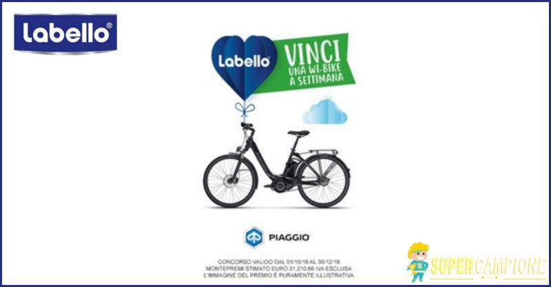 Supercampione - Vinci una Wi-Bike Piaggio con Labello