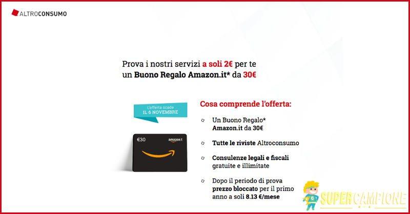 Supercampione - Prova Altroconsumo e ricevi un buono Amazon da 30€