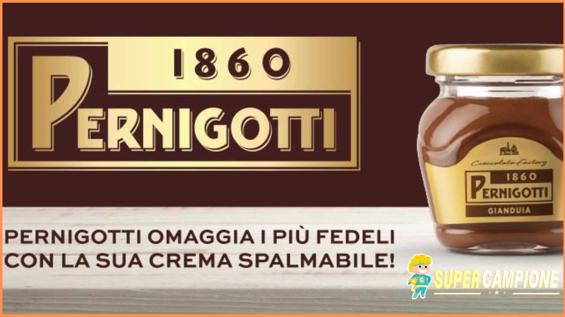 Supercampione - Campioni gratis Pernigotti per l'Eurochocolate 2018
