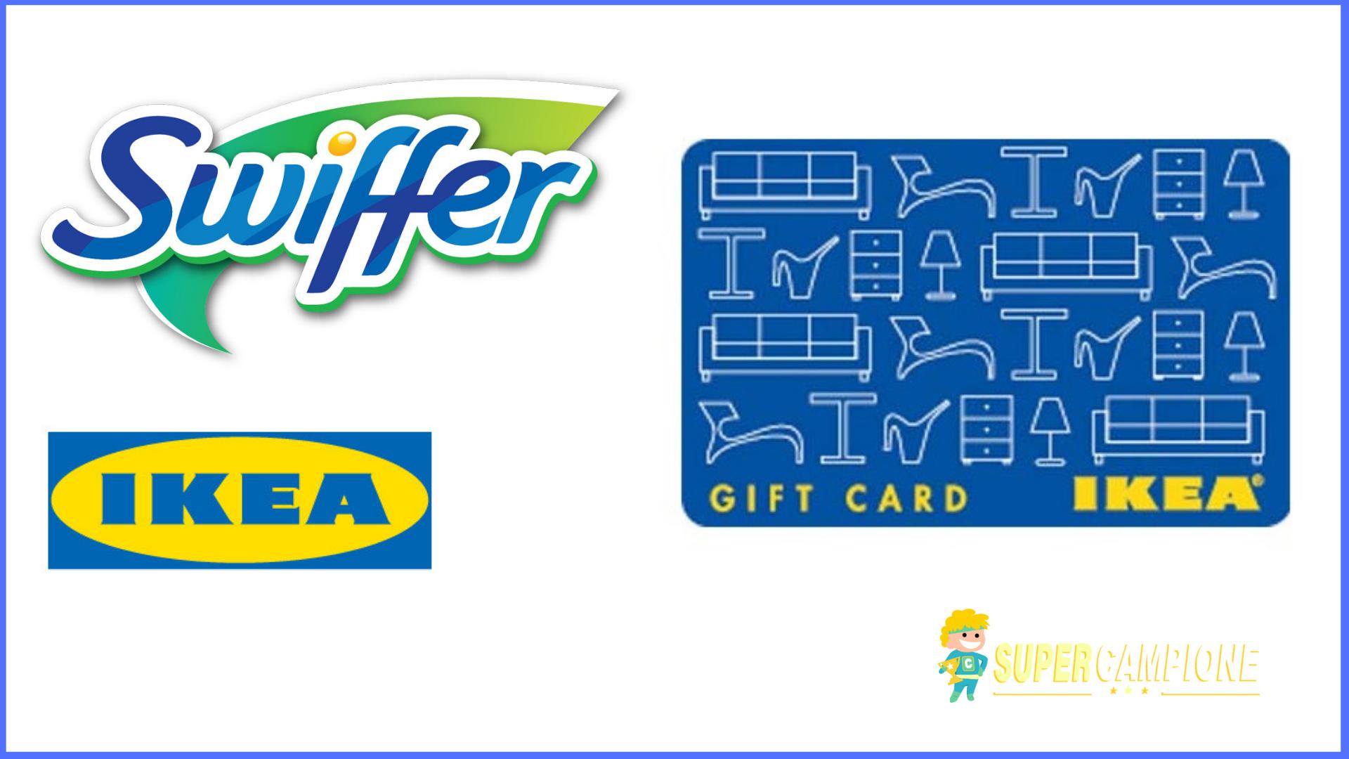 Vinci carte regalo Ikea da 100 euro con Swiffer