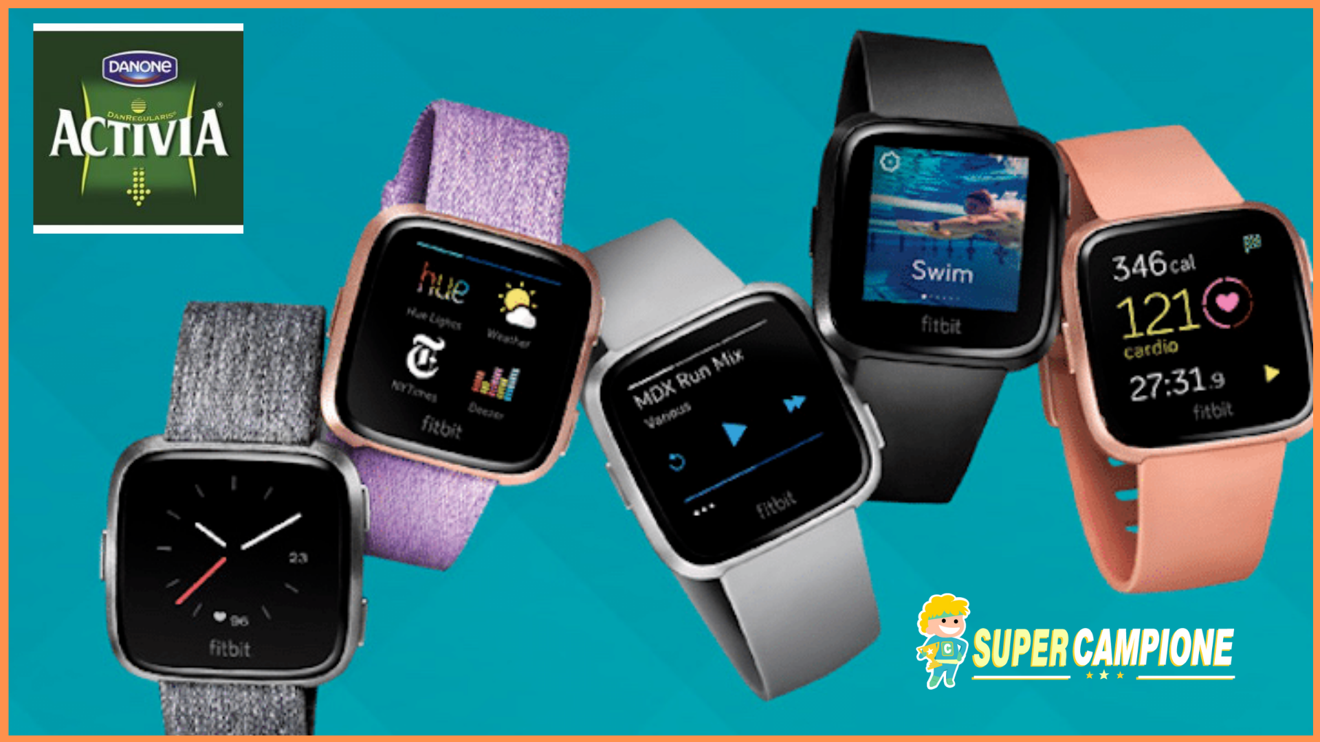 Vinci gratis 2 Smartwatch Fitbit Versa al giorno