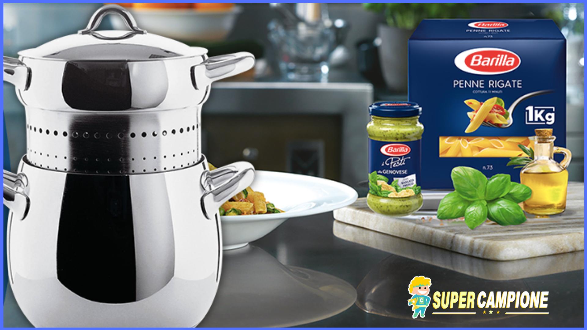 Supercampione - Vinci un set pasta Alessi con Barilla