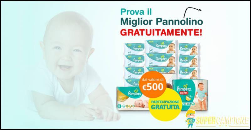 Vinci gratis buono da 500€ per pannolini