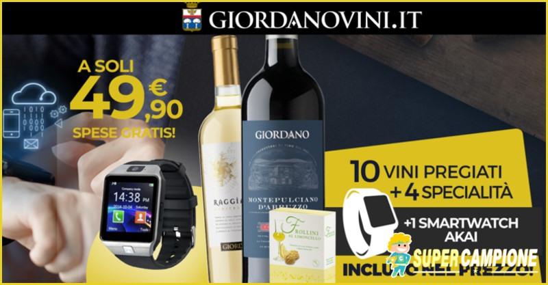 Giordano Vini: ricevi uno smartwatch