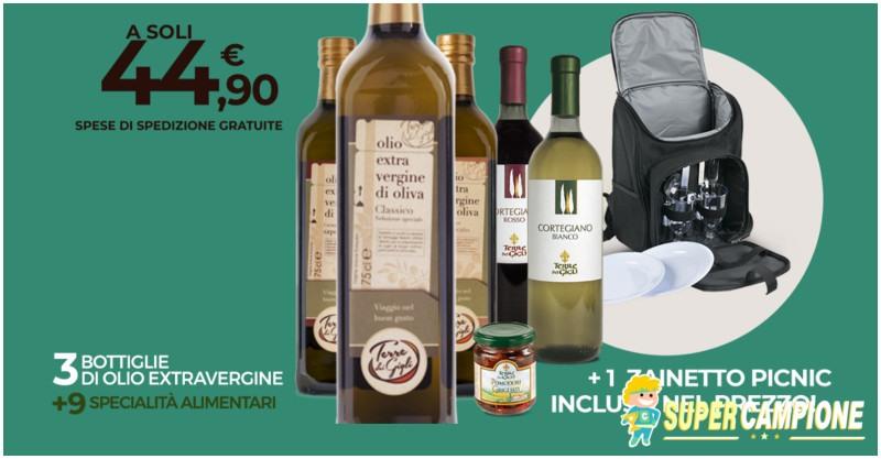 Terre dei Gigli: olio + specialità italiane e gratis zaino picnic