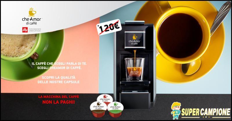 Supercampione - CheAmorDiCaffè: ricevi omaggio la macchina del caffè