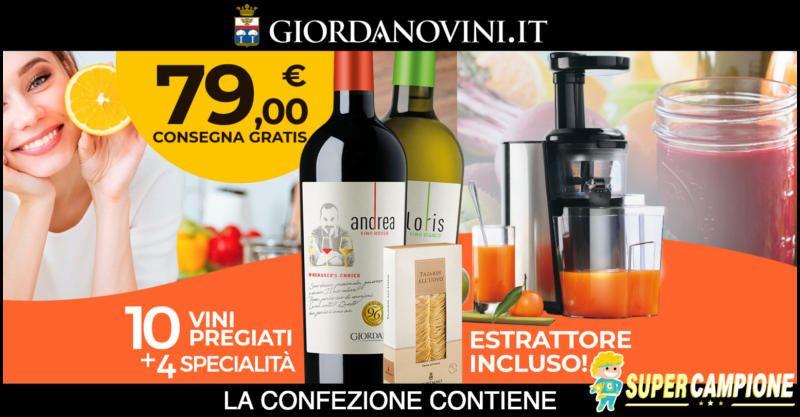 Supercampione - Giordano Vini: ricevi gratis un estrattore