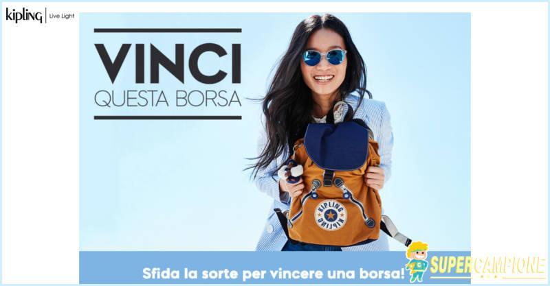 Vinci gratis uno zaino Kipling