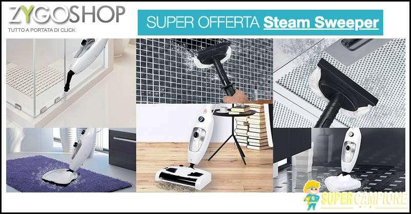 Supercampione - Offerta Steam Sweeper scopa a vapore